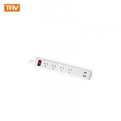 TEKSON ELECTRONICA - TRV ZAPATILLA 4 TOMAS + USB x 2
