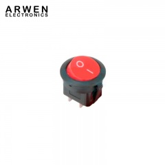 TEKSON-ELECTRONICA-Tecla-Interruptora-REDONDA-2-Patas-Color-Roja